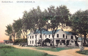 Grand Detour, Illinois - The Sheffield Hotel in Grand Detour, purchased by Orson Welles's father