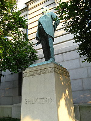John A. Wilson Building - Statue of Alexander Robey Shepherd outside the Wilson Building