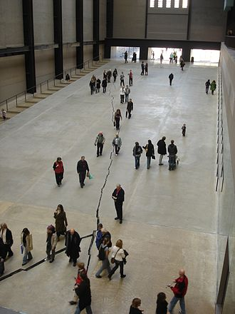 Shibboleth - Doris Salcedo's artwork, Shibboleth, at Tate Modern, London