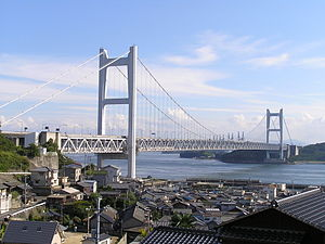 Kurashiki - Great Seto Bridge (Seto-Ohashi Bridge) seen from Shimotsui, Kurashiki