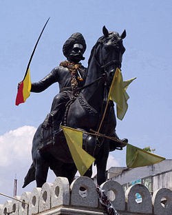Shivappa Nayaka statue in the Shivamogga City.