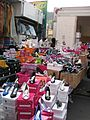 Shoes at a street market in Italy 02.jpg