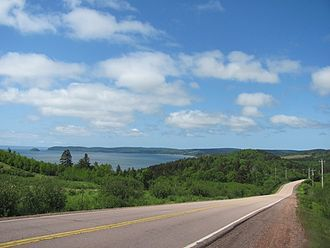 Cumberland County, Nova Scotia - Cumberland county landscape at Fraserville with Spencers Island in background