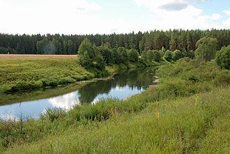 Moscow Oblast - The Shosha River near the selo of Mikulino