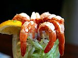 Shrimp cocktail lemons lettuce seafood.jpg