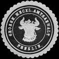 Siegelmarke Grossherzoglich Mecklenburgische Amtsanwalt - Penzlin W0215367.jpg