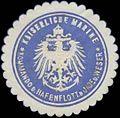 Siegelmarke K. Marine Kommando der Hafenflotte der Jade und Weser W0351863.jpg