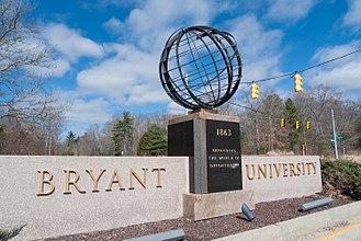 Bryant University - Entrance to Bryant University's Smithfield campus