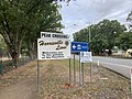 Signage on entering Peak Crossing from the North on the Ipswich Boonah Road, 2020.jpg