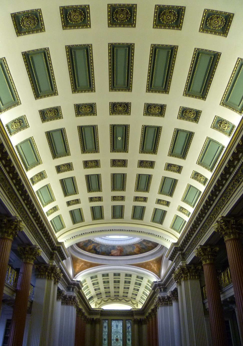 Signet Library ceiling