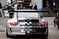 Silver Porsche Design 997 GT3 Cup rear view (Porsche Rennsport Reunion IV).jpg
