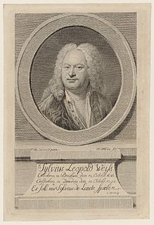 Sylvius Leopold Weiss German composer and lutenist
