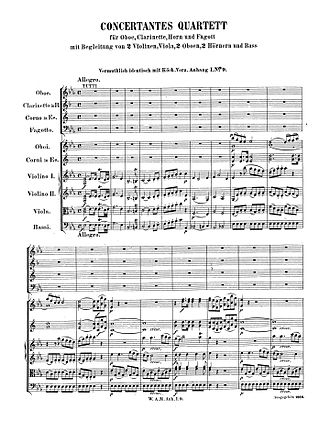 Sinfonia Concertante for Four Winds - Opening of the first movement