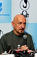 Sir Ben Kingsley, who portrayed Gandhi in the Oscar winning film, addressing the press conference, during the 40th International Film Festival (IFFI-2009), at Panaji, Goa on November 30, 2009 (1).jpg