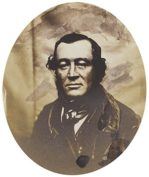 George Elliot (Royal Navy officer, born 1813) - Salt print of Elliot, late 1840s