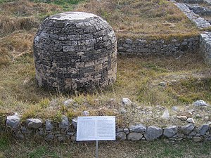 Sirkap -  The round Stupa at Sirkap.
