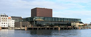 Royal Danish Playhouse - The Royal Playhouse seen from the harbour
