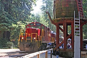 The Skunk Train at Northspur in 2005