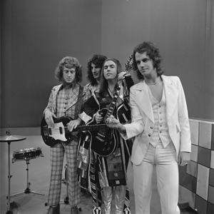 Old New Borrowed and Blue - Slade appearing on the Dutch television show TopPop, a month after the album's release.