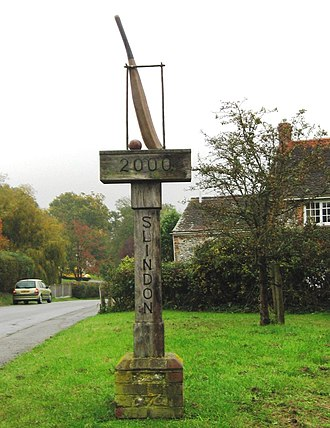 Slindon Cricket Club - Image: Slindon Cricket Sign geograph.org.uk 2680307