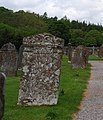 Sloping gravestones, Eskdale Church, Boot - geograph.org.uk - 1520606.jpg