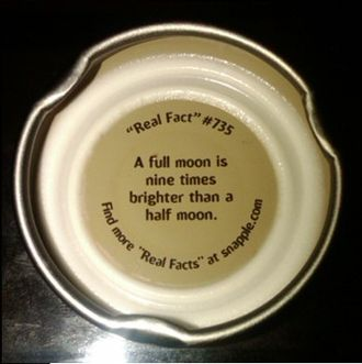 Snapple - Image: Snapple Real Fact 735