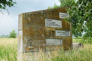 Avrohom Bornsztain - Marker in the Jewish cemetery memorializing the Jews of Sochaczew murdered by the Nazis.