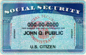 John Q. Public - SS card featuring John Q. Public