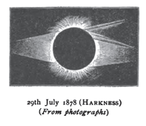 Solar eclipse of July 29, 1878 - Image: Solar eclipse 1878Jul 29 Harkness