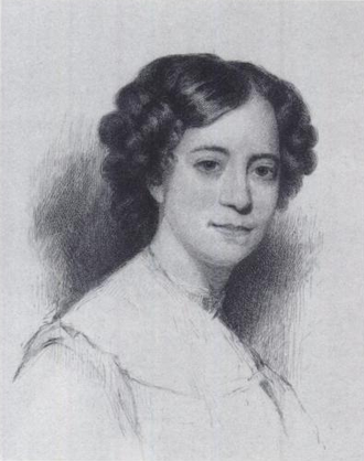 Sophia Hawthorne - etching by Stephen Alonzo Schoff