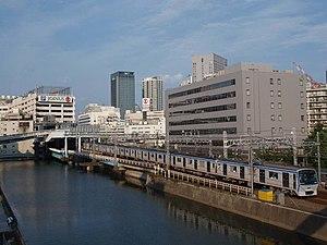 Sagami Railway Main Line - A Sagami railway 8000 series train approaching Yokohama