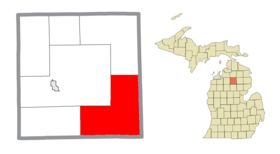 South Branch Township (Crawford), MI location2.png