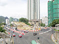 South Island Line construction site between the junction of Ap Lei Chau Bridge Road and Ap Lei Chau Drive in July 2015.jpg