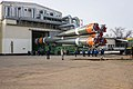 Soyuz MS-16 rollout to the launch pad (01).jpg