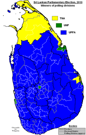 14th Parliament of Sri Lanka - Image: Sri Lankan Parliamentary Election 2010