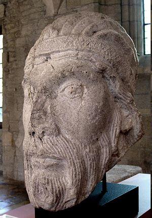 Benignus of Dijon - Early Romanesque head of Benignus of Dijon. Archaeological museum of Dijon.