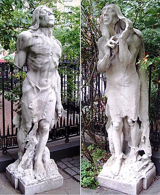 """St. Mark's Church in-the-Bowery - """"Inspiration"""" and """"Aspiration"""" by Solon Borglum"""