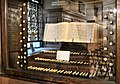 St Alfege Church, Greenwich, Tallis keyboard.jpg