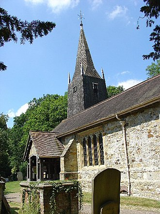 Burstow - Image: St Bartholomew Church, Burstow, Surrey geograph.org.uk 27703