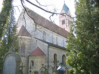 St. Peter's Church, Straubing - St. Peter's Church, Straubing, from the north east
