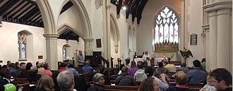 St Stephen's Church, Shepherd's Bush - Sunday service in progress