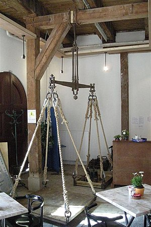 Dutch units of measurement - Scales at the town hall (and former weighhouse) in Bolsward