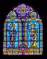 Stained glass window of the Collegiate Church of Our Lady of Quezac 02.jpg