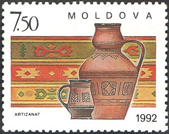 Carpet - A Moldovan stamp featuring a carpet