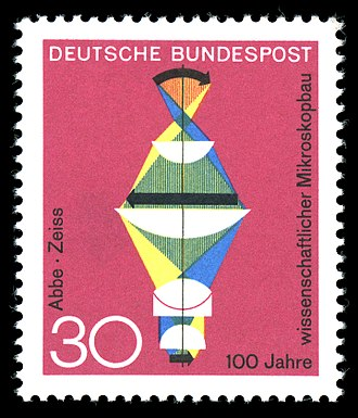 Ernst Abbe - German stamp of 1968