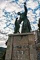 Statua di San Francesco d'Assisi presso il convento dei frati Cappuccini.jpg