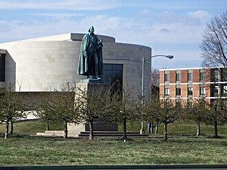 American University Museum - Image: Statue in Ward Circle, Washington, DC