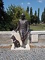 Statue of István Fekete by Ferenc Trischler, 2017 Mosonmagyaróvár.jpg