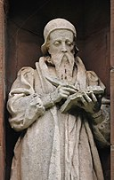 Statue of John Davies, Translators' Memorial, St Asaph 12.jpg