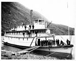 Steamboat GLEANER, with passengers and crew, at Windy Arm, Tagish Lake, Yukon Territory, nd (NOWELL 276).jpeg